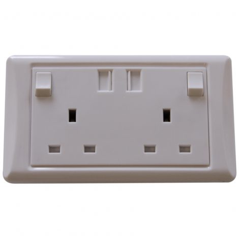 2 Gang USB Socket